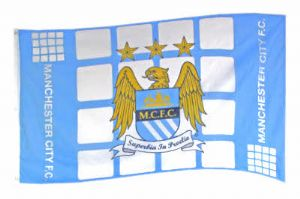 Manchester City Football Club Large Flag style 4 - 5' x 3'.